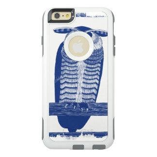 Coque OtterBox iPhone 6 Et 6s Plus Citez le hibou moderne dans le bleu