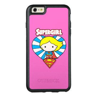 Coque OtterBox iPhone 6 Et 6s Plus Coeur et logo de Chibi Supergirl Starburst