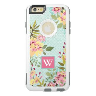 Coque OtterBox iPhone 6 Et 6s Plus Jardin floral, arrière - plan bleu