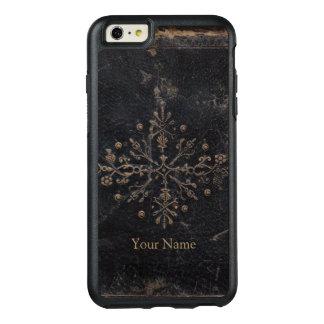 Coque OtterBox iPhone 6 Et 6s Plus La feuille d'or fanée fleurie ajoutent votre nom