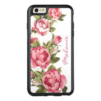 Coque OtterBox iPhone 6 Et 6s Plus Le cru personnalisé rougissent les pivoines roses