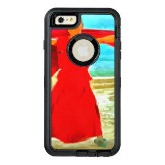 Coque OtterBox iPhone 6 Et 6s Plus Le moine superbe d'ajustement en rouge