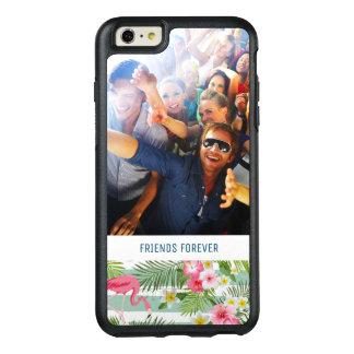 Coque OtterBox iPhone 6 Et 6s Plus Les flamants et les rayures | ajoutent votre photo