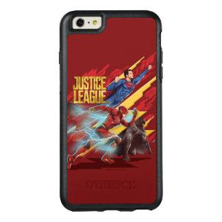 Coque OtterBox iPhone 6 Et 6s Plus Ligue de justice | Superman, éclair, et insigne de