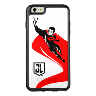 Coque OtterBox iPhone 6 Et 6s Plus Ligue de justice | Superman pilotant l'art de