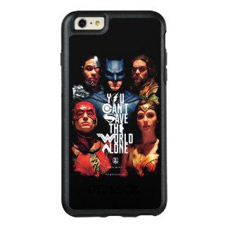 Coque OtterBox iPhone 6 Et 6s Plus Ligue de justice | vous ne pouvez pas sauver seul