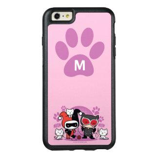 Coque OtterBox iPhone 6 Et 6s Plus Monogramme Chibi Harley Quinn et Catwoman avec des