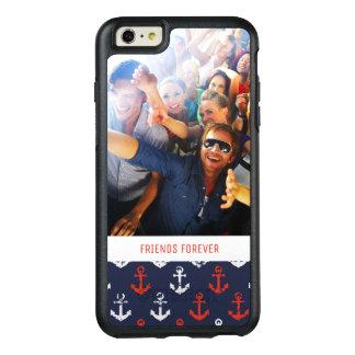 Coque OtterBox iPhone 6 Et 6s Plus Motif blanc et bleu rouge | votre photo et texte