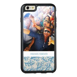 Coque OtterBox iPhone 6 Et 6s Plus Motif de corail bleu | votre photo et texte