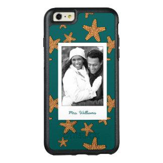 Coque OtterBox iPhone 6 Et 6s Plus Motif orange | d'étoiles de mer votre photo et nom