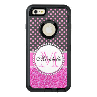 Coque OtterBox iPhone 6 Et 6s Plus Parties scintillantes roses et pois rose sur le