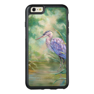 """Coque OtterBox iPhone 6 Et 6s Plus Peinture en pastel de héron bleu de """"solitude"""" -"""