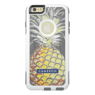 Coque OtterBox iPhone 6 Et 6s Plus Pinneapple jaune tropical sur le gris