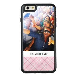 Coque OtterBox iPhone 6 Et 6s Plus Plaid rose-clair fait sur commande de photo et de