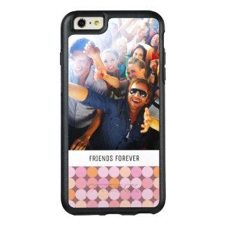 Coque OtterBox iPhone 6 Et 6s Plus Pois rose et orange fait sur commande de photo et