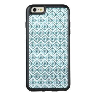 Coque OtterBox iPhone 6 Et 6s Plus Teal sur le motif ethnique blanc, fleurs, chevrons