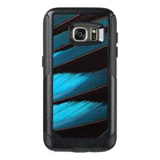 Coque OtterBox Samsung Galaxy S7 Abrégé sur Bleu-Gonflé plume de rouleau