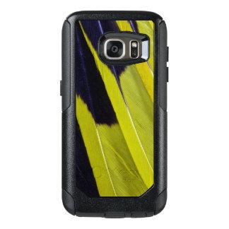 Coque OtterBox Samsung Galaxy S7 Abrégé sur jaune et noir plume