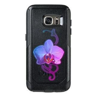 Coque OtterBox Samsung Galaxy S7 Cas uniques de Samsung de style d'orchidée