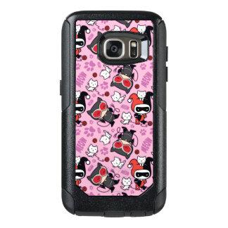 Coque OtterBox Samsung Galaxy S7 Catwoman de Chibi, Harley Quinn, et motif de
