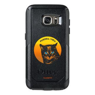 Coque OtterBox Samsung Galaxy S7 Chat de ronronnement et cool pur de la vie de Sun