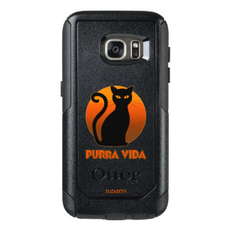 Coque OtterBox Samsung Galaxy S7 Chat de ronronnement et vie pure de Sun Purra Vida