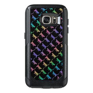 Coque OtterBox Samsung Galaxy S7 Chats d'arc-en-ciel sur le noir ou votre couleur