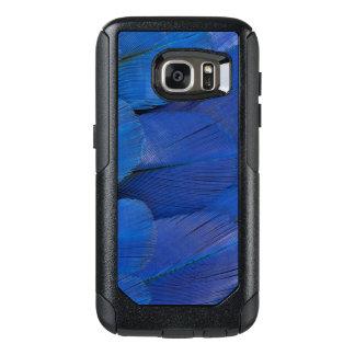 Coque OtterBox Samsung Galaxy S7 Conception bleue de plume d'ara de jacinthe
