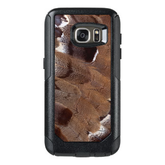 Coque OtterBox Samsung Galaxy S7 Conception de plume de Brown