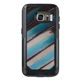 Coque OtterBox Samsung Galaxy S7 Conception de plume de rouleau Bleu-Gonflée par