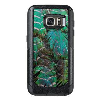 Coque OtterBox Samsung Galaxy S7 Conception verte de plume de paon