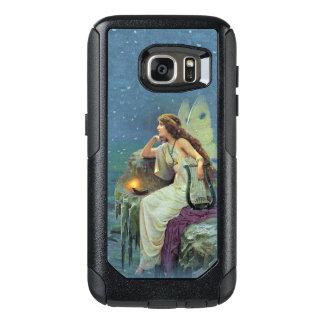 Coque OtterBox Samsung Galaxy S7 Jolie fée sur l'harpe de musical de bougie de Lit