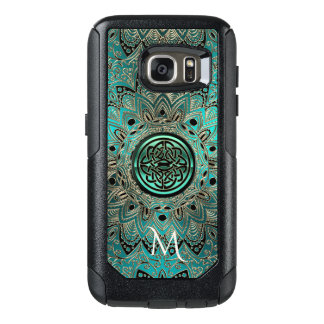 Coque OtterBox Samsung Galaxy S7 Mandala celtique turquoise Otterbox de noeud