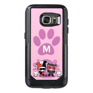 Coque OtterBox Samsung Galaxy S7 Monogramme Chibi Harley Quinn et Catwoman avec des