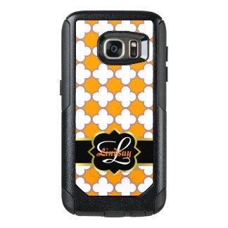 Coque OtterBox Samsung Galaxy S7 Monogramme et quatrefoils de Quatrefoil dans le