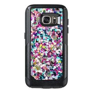 Coque OtterBox Samsung Galaxy S7 Paillettes Girly Bling de Faux d'arc-en-ciel