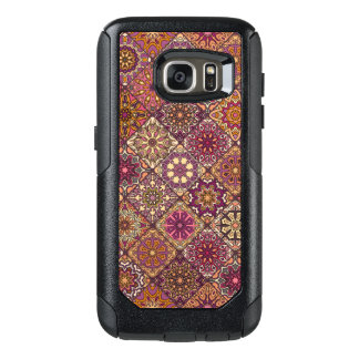 Coque OtterBox Samsung Galaxy S7 Patchwork vintage avec les éléments floraux de