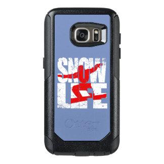 Coque OtterBox Samsung Galaxy S7 Pensionnaire rouge de la VIE de NEIGE (blanc)