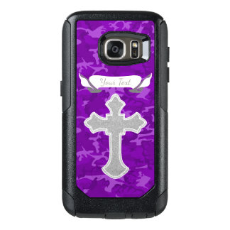 Coque OtterBox Samsung Galaxy S7 Personnalisable - Camo pourpre avec la croix