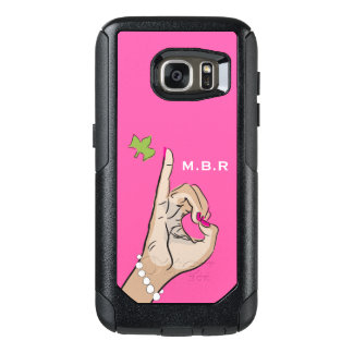 Coque OtterBox Samsung Galaxy S7 Vrai amour assez rose et vert
