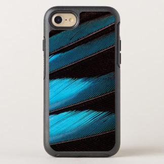 Coque OtterBox Symmetry iPhone 8/7 Abrégé sur Bleu-Gonflé plume de rouleau