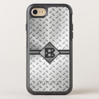 Coque OtterBox Symmetry iPhone 8/7 Acier de plat de diamant, décoré d'un monogramme