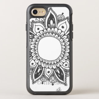 Coque OtterBox Symmetry iPhone 8/7 Art noir et blanc de mandala