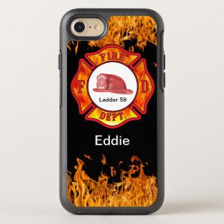 Coque OtterBox Symmetry iPhone 8/7 Baisse de nom de défenseur de sapeur-pompier
