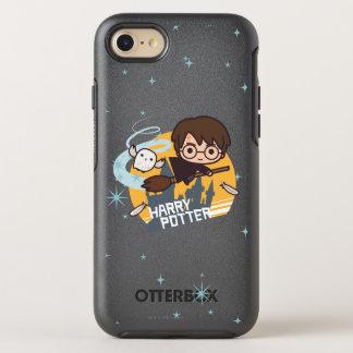 Coque OtterBox Symmetry iPhone 8/7 Bande dessinée Harry et vol de Hedwig après
