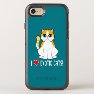 Coque OtterBox Symmetry iPhone 8/7 Chat exotique