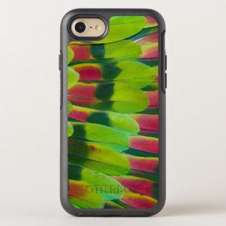 Coque OtterBox Symmetry iPhone 8/7 Conception de plume de vert de perroquet d'Amazone
