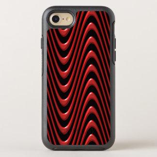 Coque OtterBox Symmetry iPhone 8/7 Écoulement de lave rouge d'abrégé sur vague