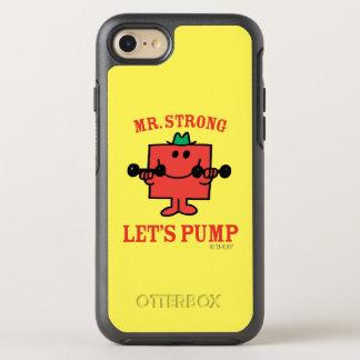 Coque OtterBox Symmetry iPhone 8/7 Fer de pompage avec M. Strong