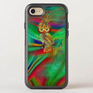 Coque OtterBox Symmetry iPhone 8/7 Hibou tropical de la Reine de mode